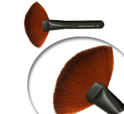 Brow Faux Jumbo Fan