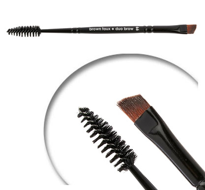 Brown Faux Duo Brow Brush