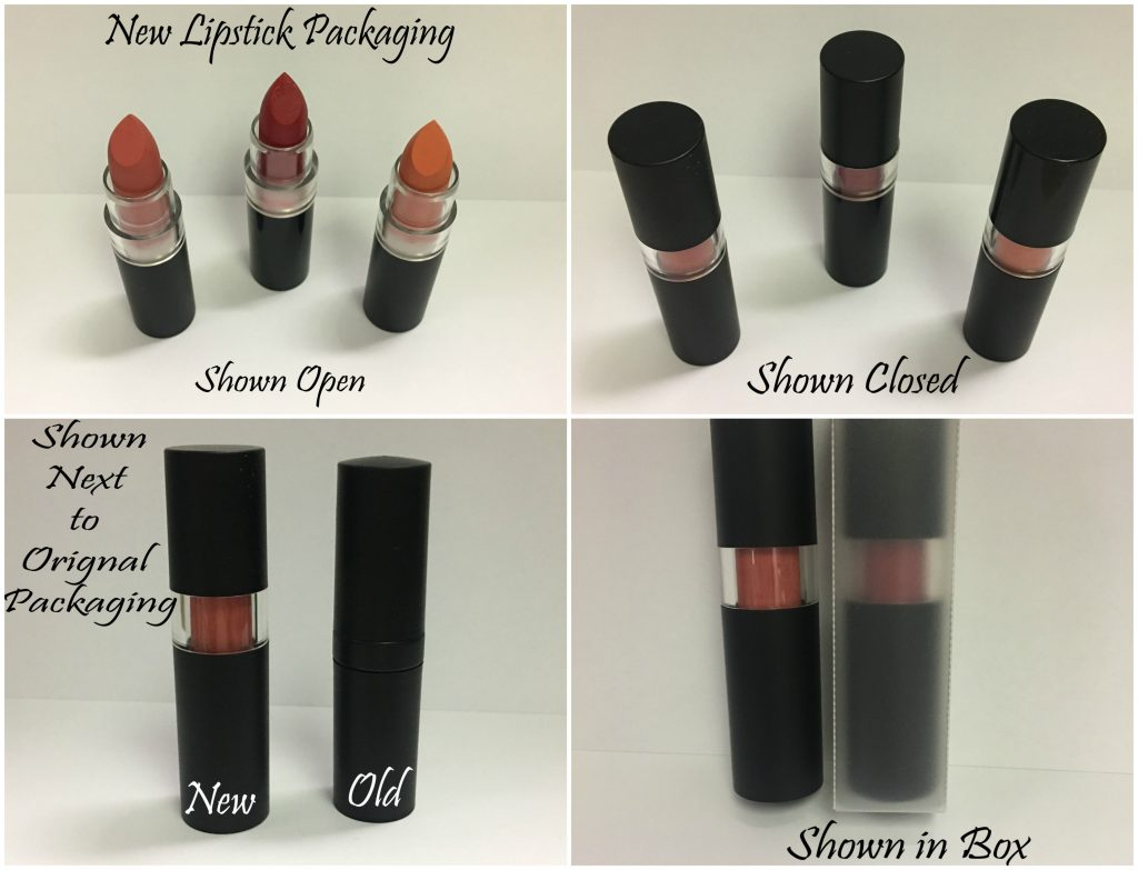 New and old lipstick packaging