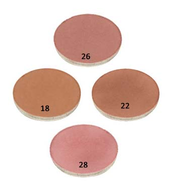 Natural Organic VeganPressed Blush shades