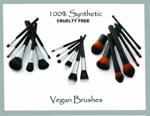 100% Synthetic Vegan Brushes