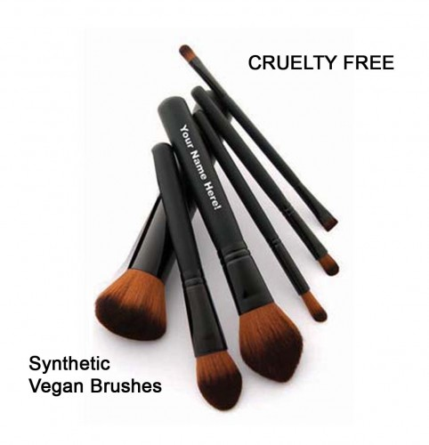 Brown Faux Synthetic Vegan Brushes