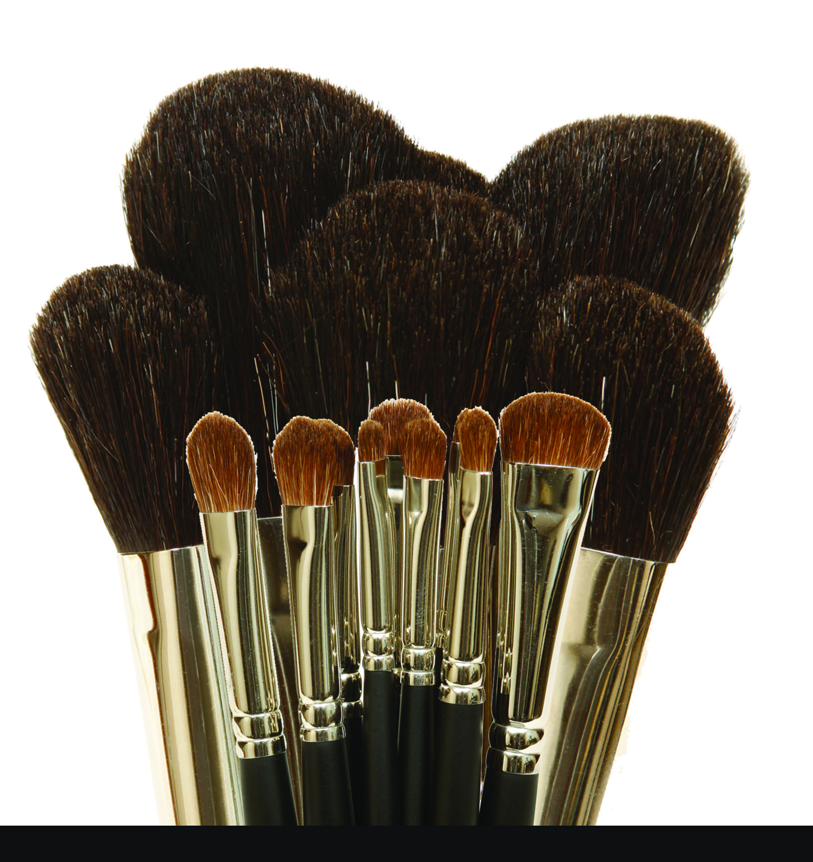 Eye and Face Chisel Brushes
