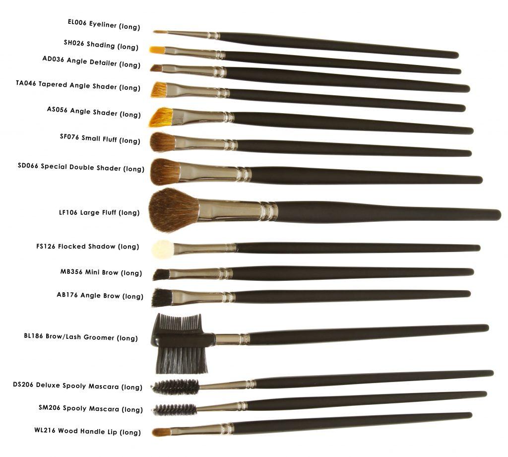 Standard Eye Brushes LONG HANDLES