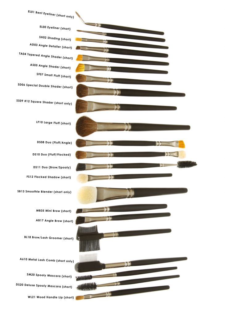 Standard Eye Brushes Short handles