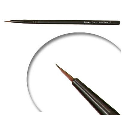 Brow FauxThin line Vegan Brush
