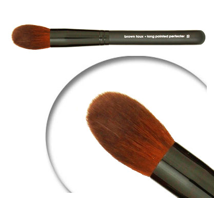 BFF125 brown faux: long pointed perfecter