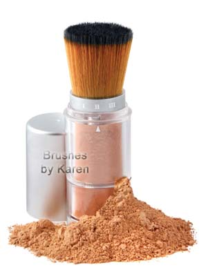 Brown Faux Powder Dispensing Brush – Item #BFPD