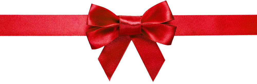 red bow divider
