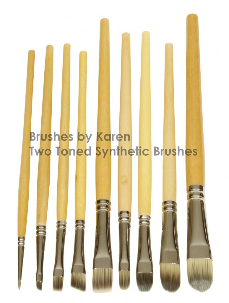 Vegan SyntheticTwo Toned Brushes