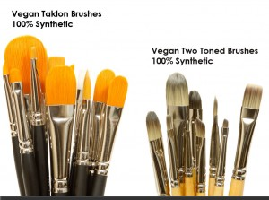 Vegan Synthetic Taklon Brush